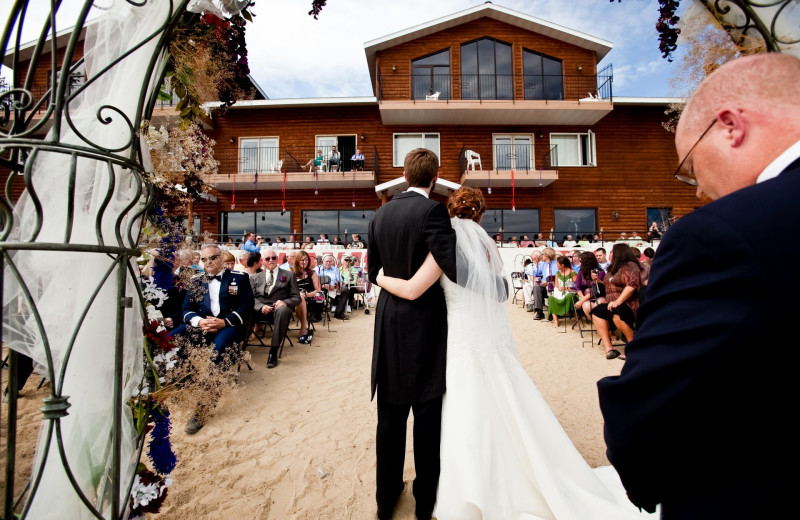 Weddings at Hiawatha Beach Resort.