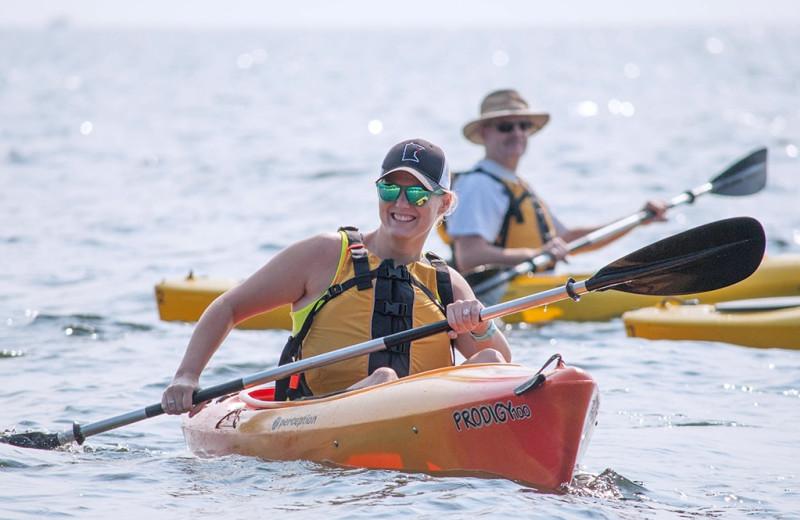 Kayaking at Beacon Pointe Resort.