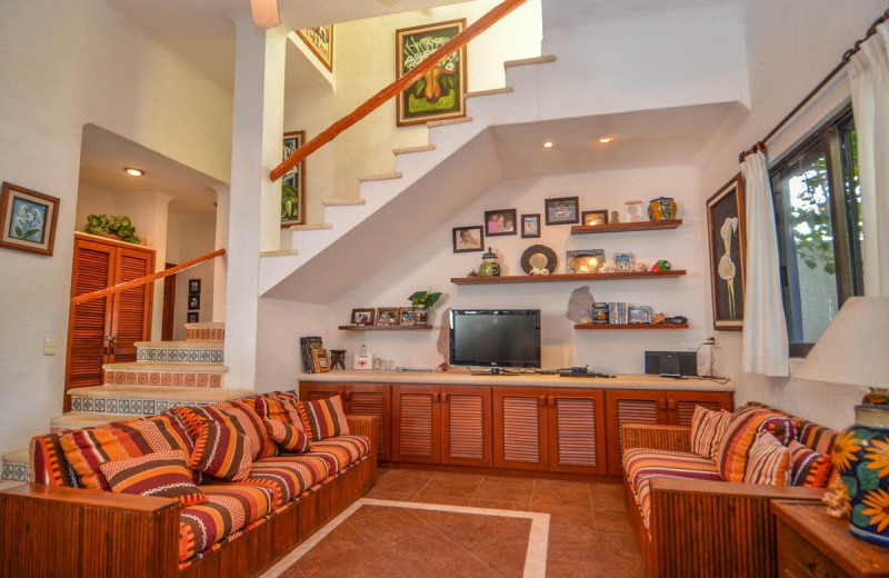 Rental living room at Casa Salvaje.