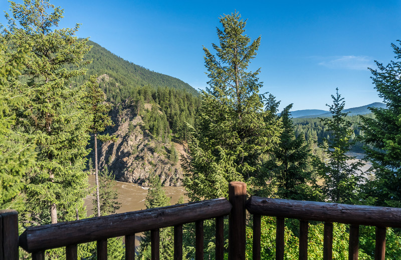 Balcony view at Montana River Lodge.