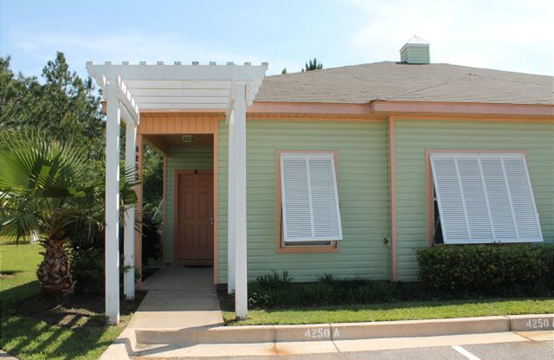 Exterior view of Orange Beach Villas.