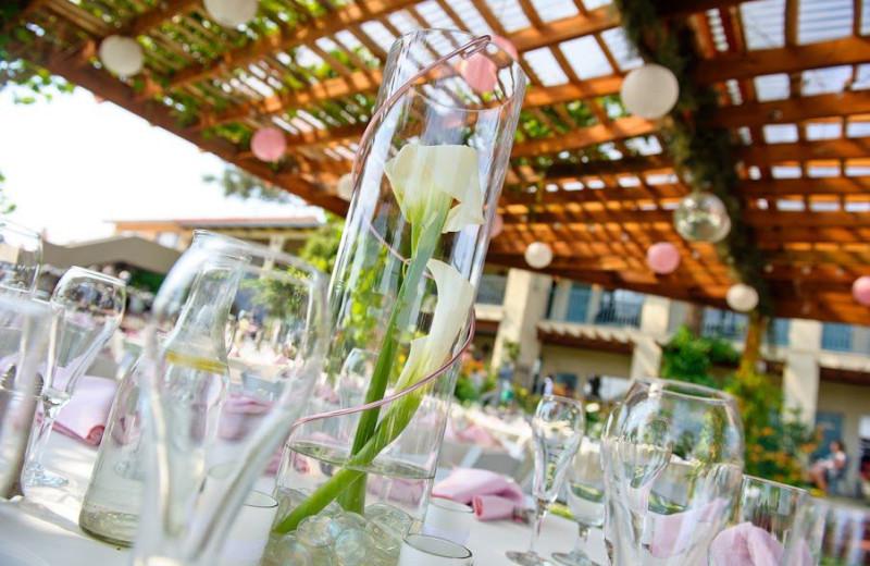 Wedding setup at Inn at Paradise.