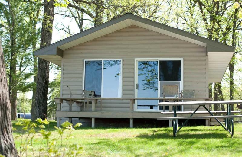 Cabin exterior at Gull Lake Resort.