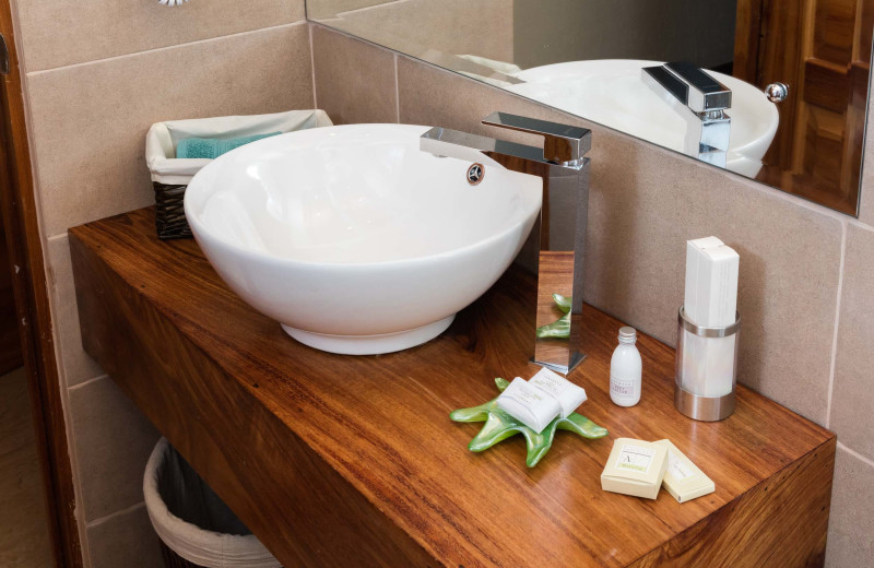 Guest sink at El Castillo Boutique Luxury Hotel.