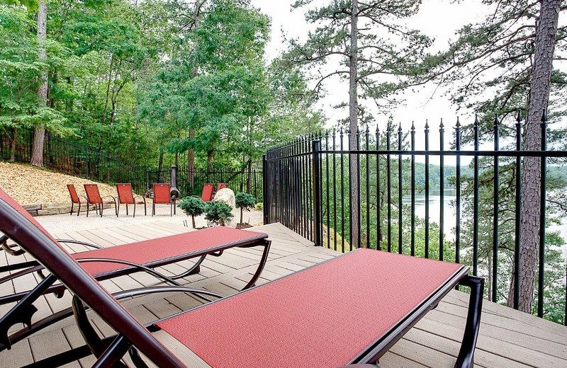 Rental deck at BlueSky Vacation Homes.