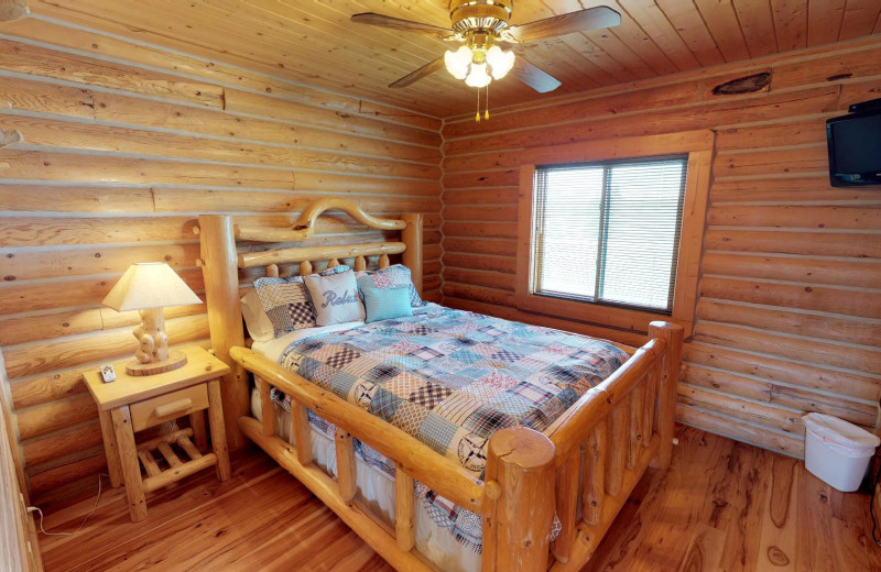 Rental bedroom at Island Park Reservations.