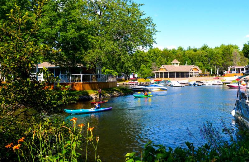 Lake view at Great Blue Resorts- Shamrock Bay Resort.