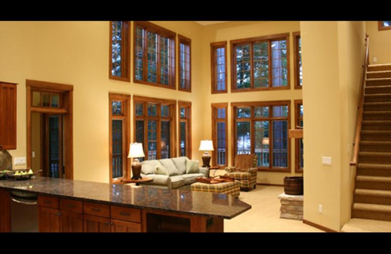 Vacation rental interior at Northernaire Resort.