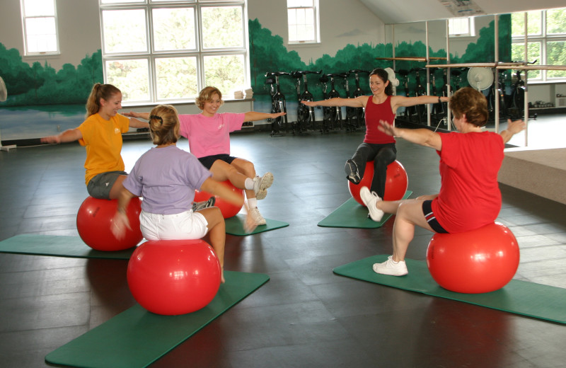 Fitness class at Heartland Spa & Fitness Resort.