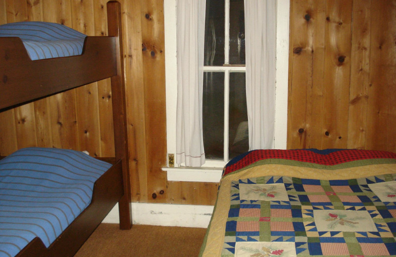 Cabin bedroom at Moore Springs Resort.