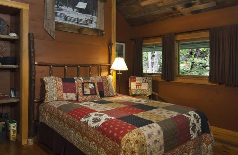 Guest Bedroom at Nantahala River Lodge.