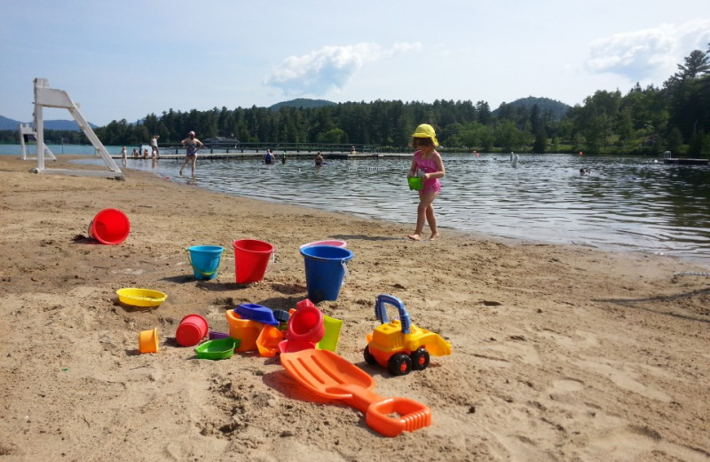 Beach at Gauthier's Saranac Lake Inn.