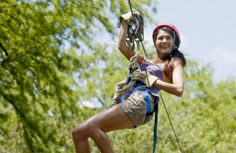 Zip line at Burnet County Tourism.
