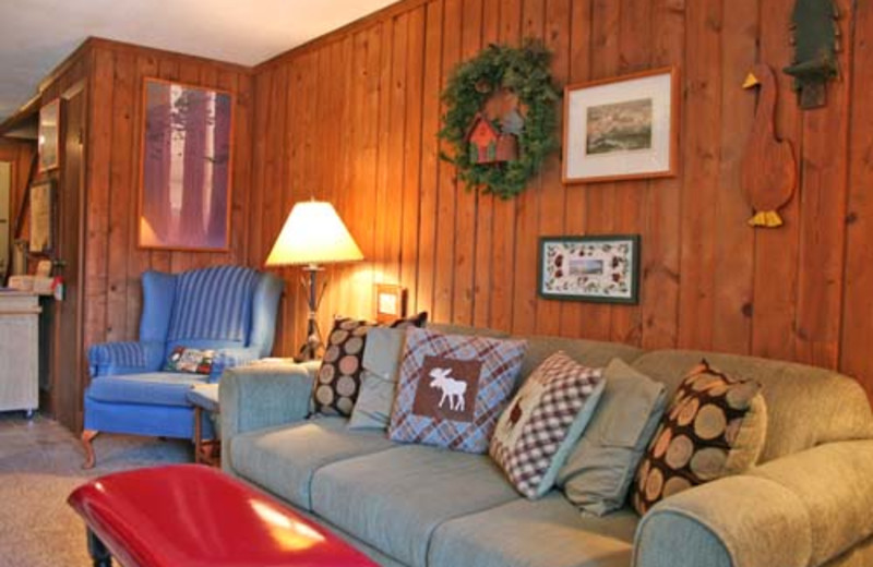 Vacation living room at Snowshoe Properties Management.