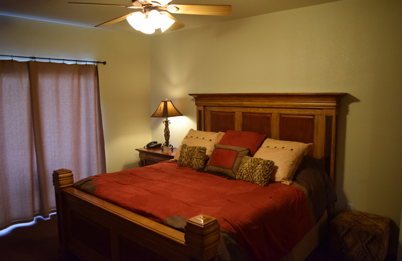 Guest room at Flying L Hill Country Resort & Conference Center.