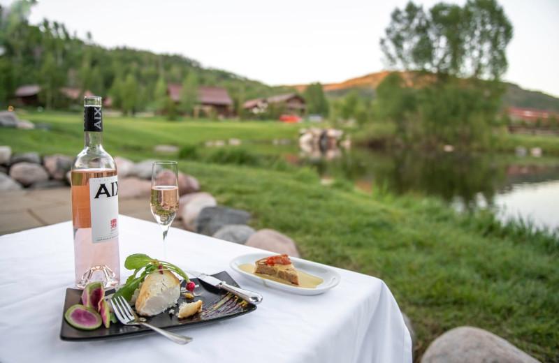 Dining at Vista Verde Ranch.