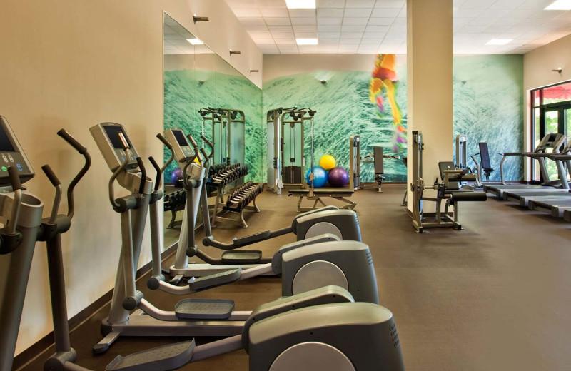 Fitness room at The Westin Huntsville.