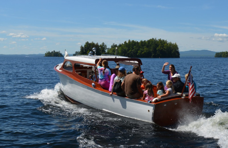 Boating at Migis Lodge.