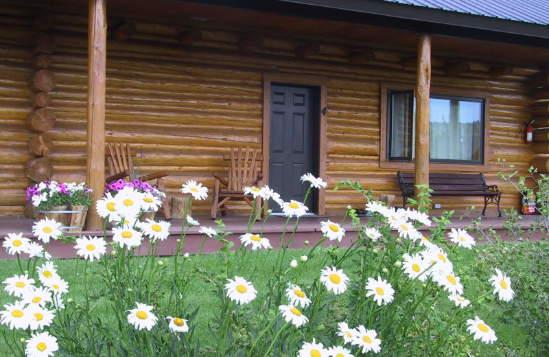 Cabin exterior at Luton's Teton Cabins.