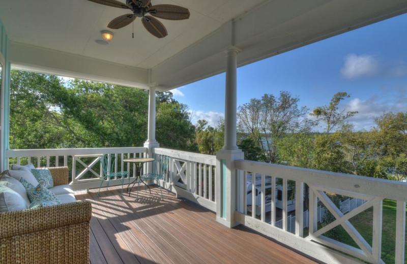 Deck at Lake Haus.