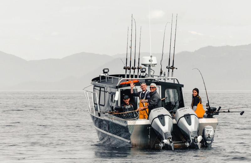 Fully guided fishing trip at Salmon Falls Resort