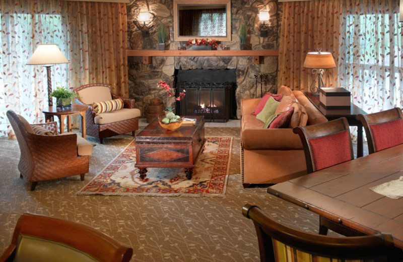 Living room of a Presidential Suite at Cheyenne Mountain Resort.
