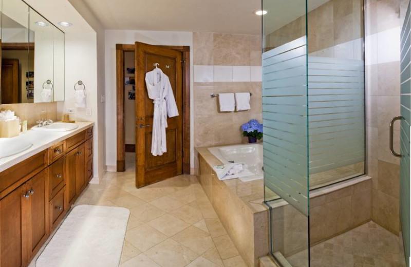Guest bathroom at East West Resorts Beaver Creek.