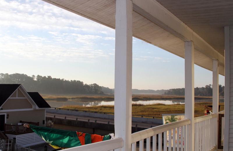 Balcony view at Smithfield Station.