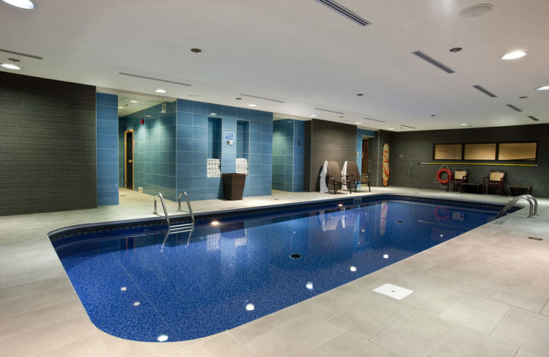 Indoor pool at Fairmont Chateau Laurier.