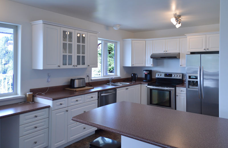 Rental kitchen at Island Vacation Homes.