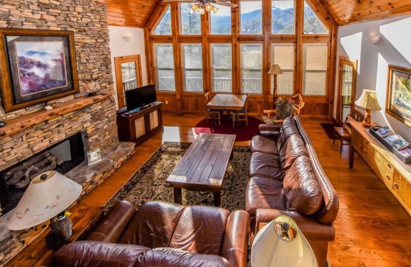 Rental living room at Dogwood Cabins LLC.