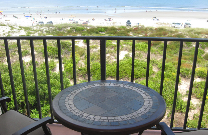 Balcony at Beacher's Lodge Oceanfront Suites.