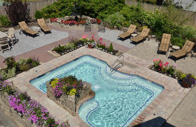 Outdoor pool at Gazebo Inn.