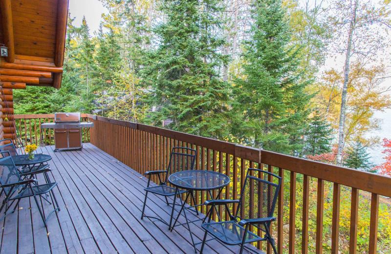 Cabin deck at White Eagle Resort.