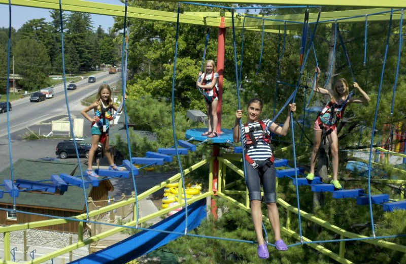 Adventure ropes at Northwoods Lodge.