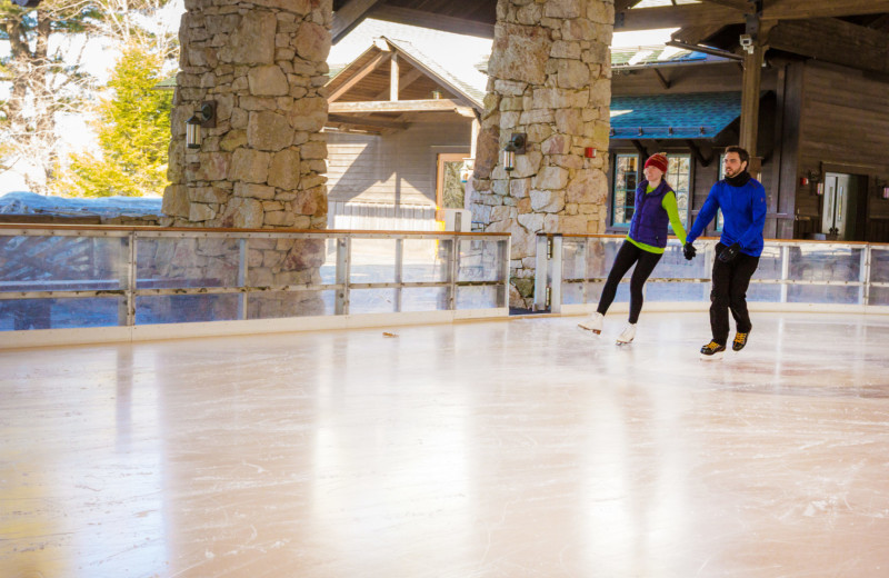 Ice skating at Mohonk Mountain House.
