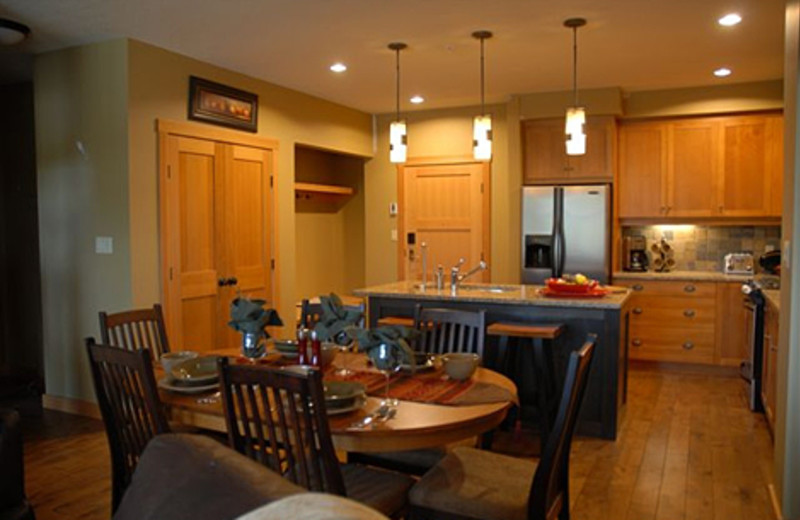 Guest kitchen at Red Mountain Resort.