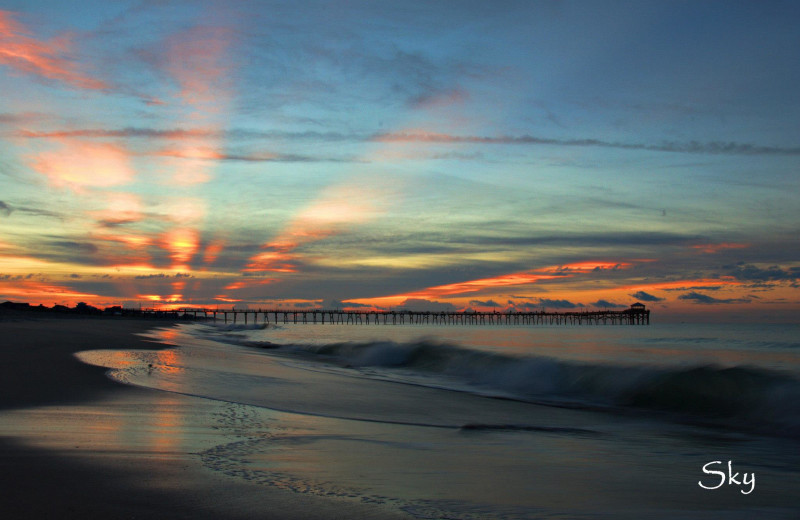 Beach sunset at Realty World - First Coast Realty.