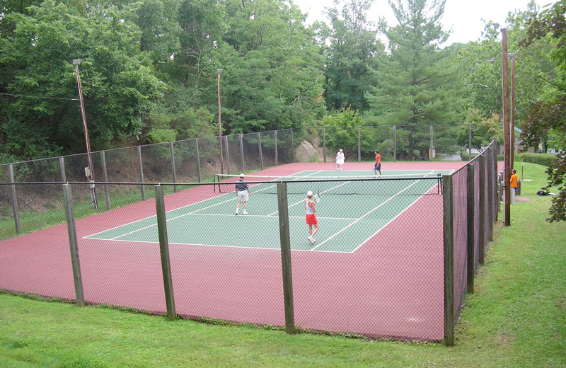 Tennis court at Capon Springs.
