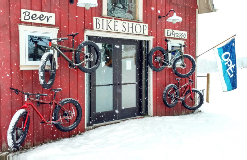 Fat bike shop at The Wildflower Inn.