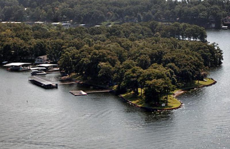 Aerial view at Mallard Point Resort.
