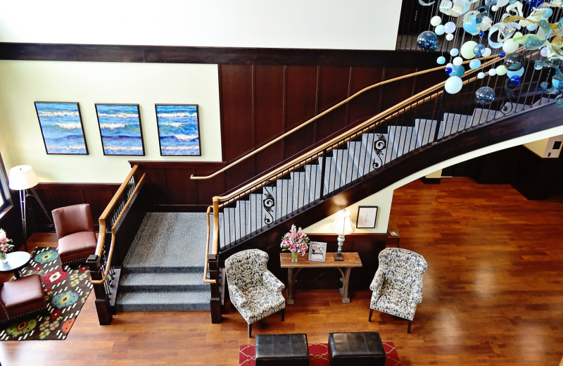 Lobby at The Inn at Harbor Shores.