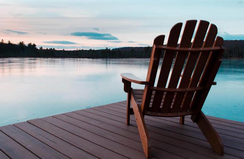 Lake view at The Lodge at Woodloch.