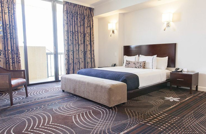 Guest bedroom at La Torretta Lake Resort & Spa.
