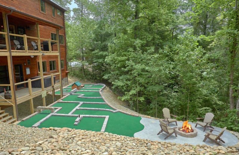 Rental mini golf at Elk Springs Resort.
