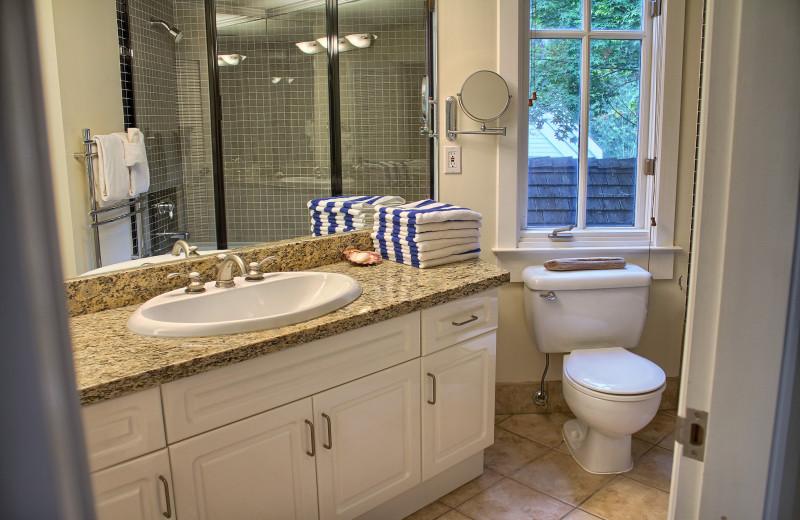 Guest bathroom at Poets Cove Resort & Spa.