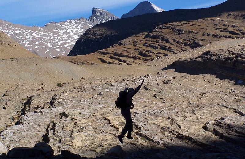 Hiking in Glacier National Park by Izaak Walton Inn.
