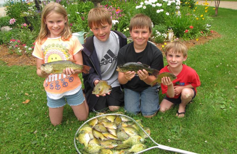 Fishing at Mill Lake Resort.