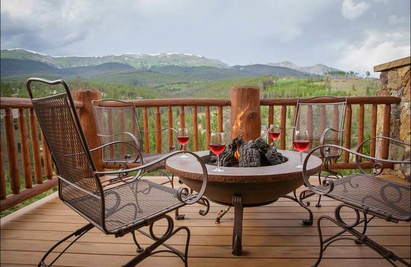 Rental deck view at Breckenridge Rentals by Owner.