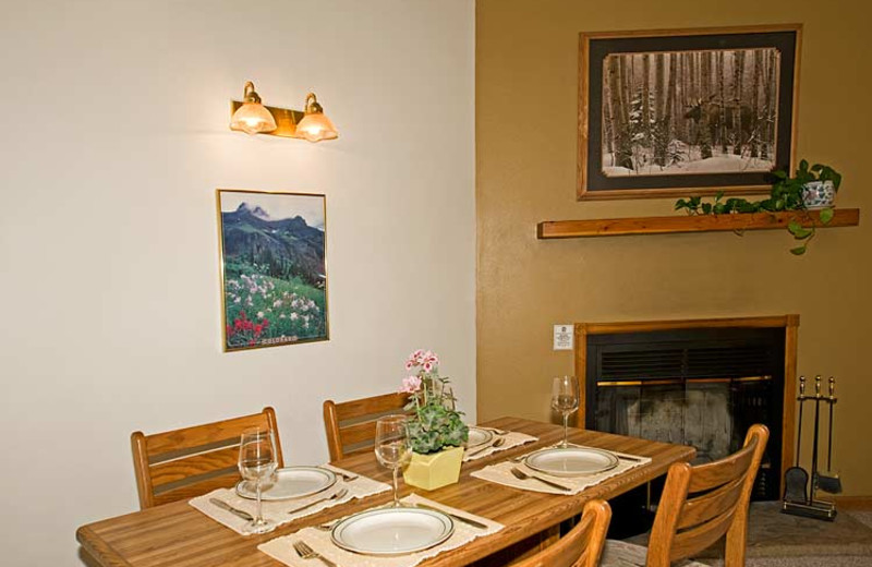 Suite dining room at Woodlands On Fall River.